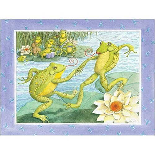 Jitterbugging Frogs Canvas Art