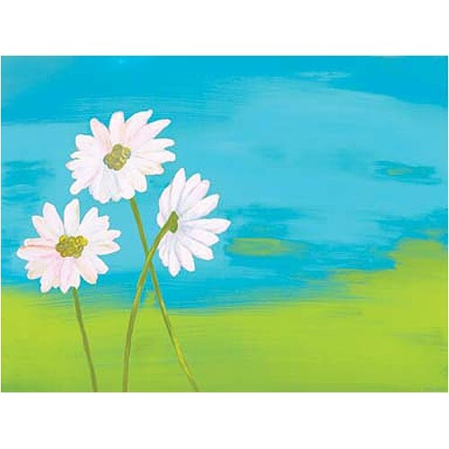 Art 4 Kids Skyline Daisies Canvas Art