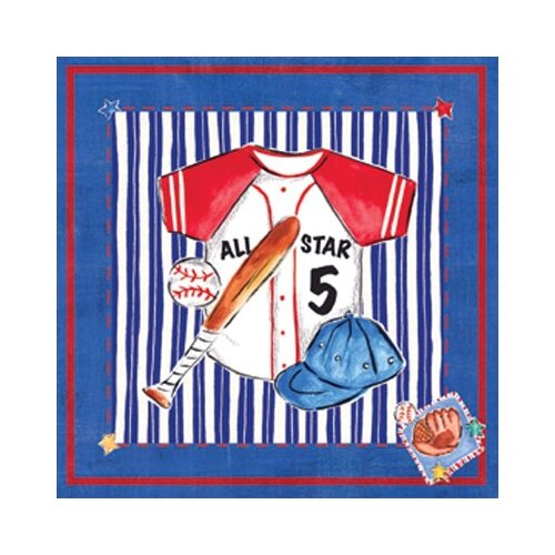 Art 4 Kids Jean Baseball Canvas Art