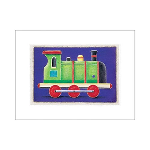 Art 4 Kids Green Steam Engine Canvas Art