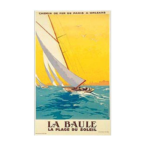 La Baule Vintage Sail Canvas Art