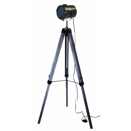 Salvage Tripod Decorative Telescope