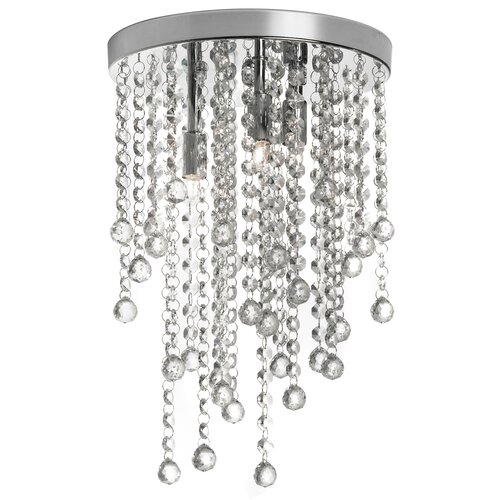 Dainolite 3 Light Crystal Semi-Flush Mount