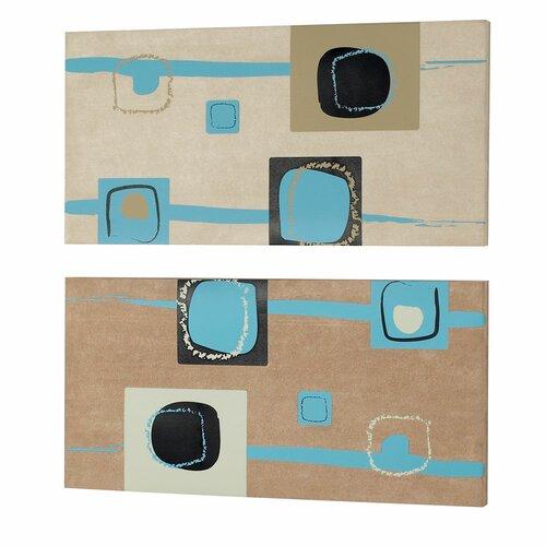 Square 2 Peice Painting Print Set (Set of 2)