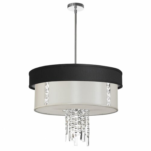 Dainolite 3 Light Crystal Drum Pendant