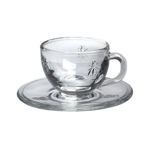 La Rochere LaRochere Espresso Cup and Saucer in Napoleonic Bee Motif (Set of 6)