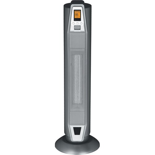 Sunpentown 1,500 Watt Ceramic Tower Space Heater with Thermostat
