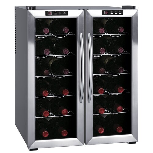 24 Bottle Dual Zone Thermoelectric Wine Refrigerator