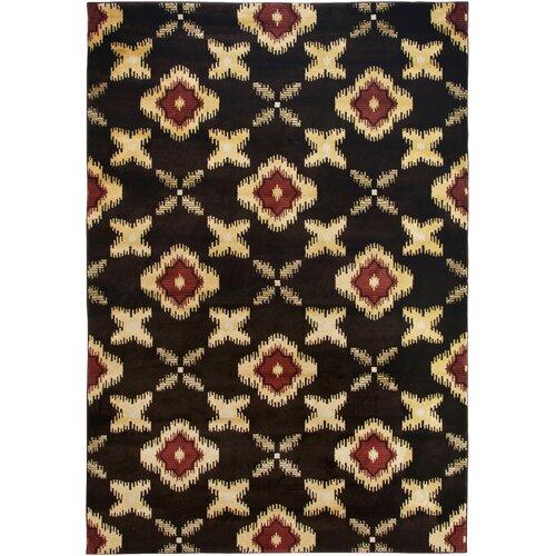 BaySide Black Floral Rug