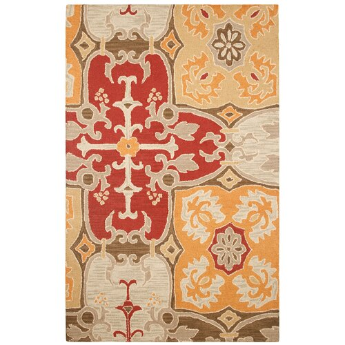 Rizzy Home Country Red Multi Bubblerary Rug