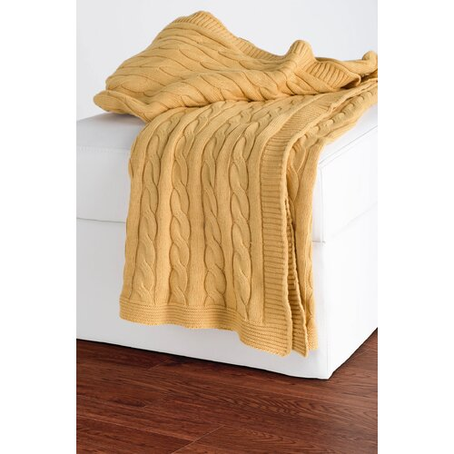 Rizzy Home Cable Knit Cotton Throw