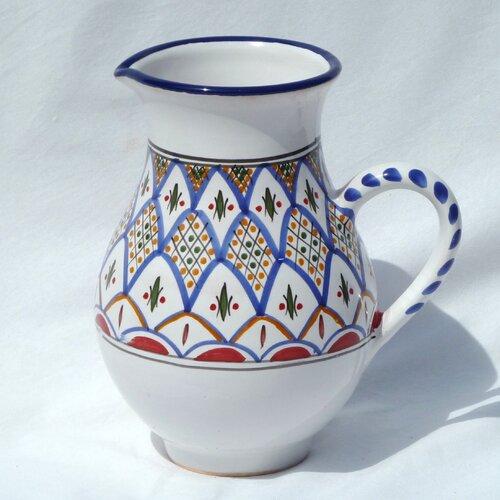 Le Souk Ceramique Tabarka Design Large Pitcher