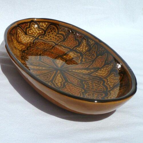 Le Souk Ceramique Honey Design Oval Platter