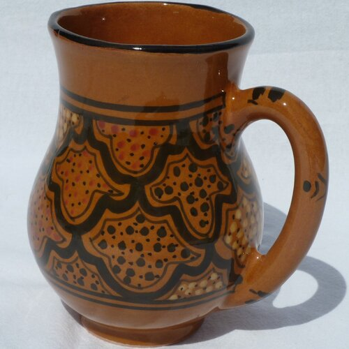 Le Souk Ceramique Honey Design 16 oz. Large Mug