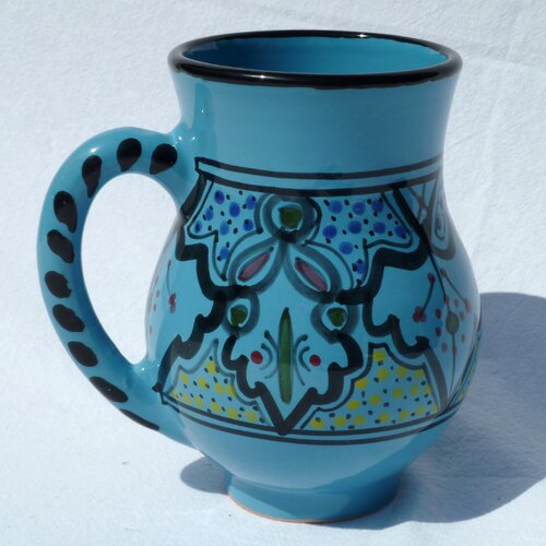 Le Souk Ceramique Sabrine Design 16 oz. Large Mug