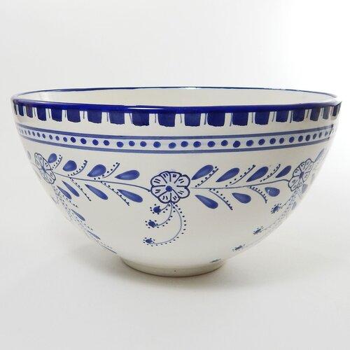 """Le Souk Ceramique Azoura Design 12"""" Serving Bowl"""