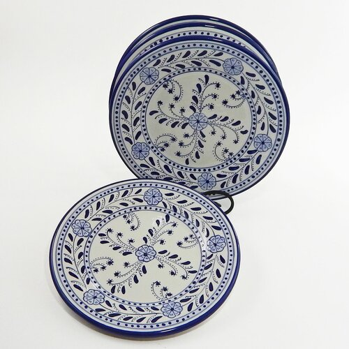 "Le Souk Ceramique Azoura Design 11"" Dinner Plates"