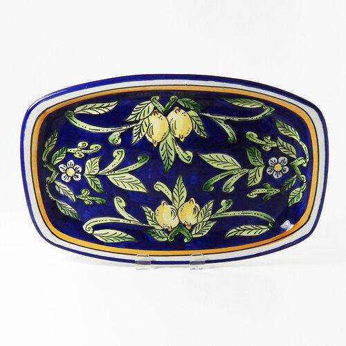 "Le Souk Ceramique Citronique Design 13"" Rectangular Platter"