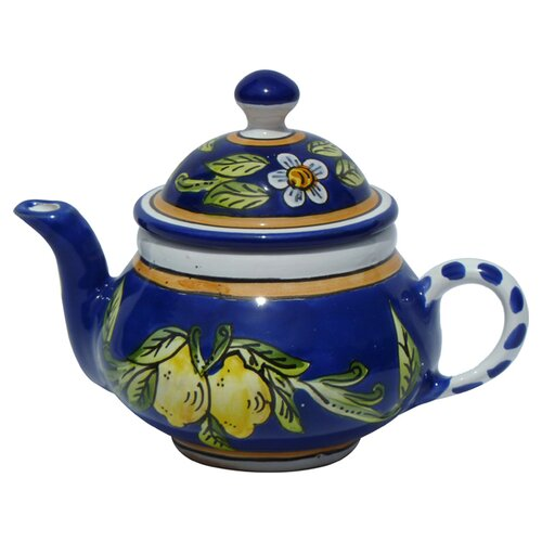Le Souk Ceramique Citronique Design 0.75-qt. Teapot