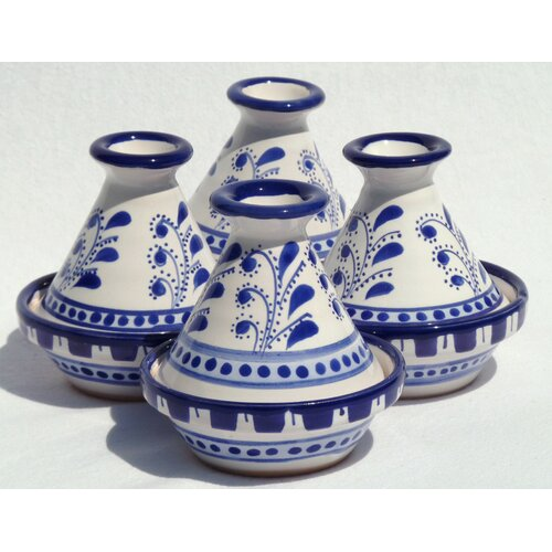 Le Souk Ceramique Azoura Design Mini Tagines (Set of Four)