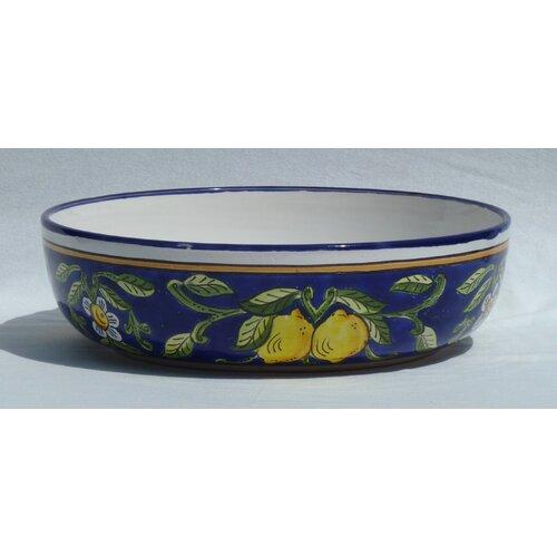 """Le Souk Ceramique Citronique Design 12"""" Serving Bowl"""