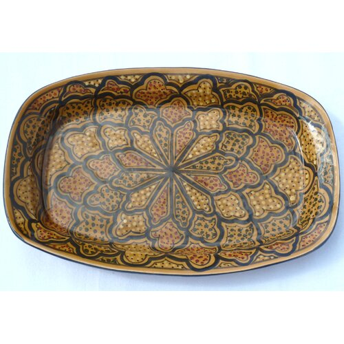 "Le Souk Ceramique Honey Design 13"" Rectangular Platter"