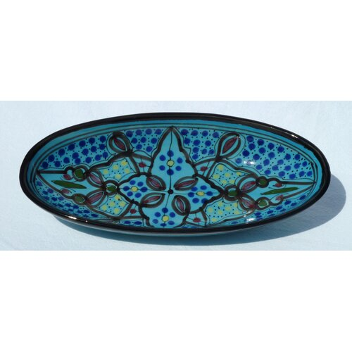 "Le Souk Ceramique Sabrine Design 4.5"" Oval Platter (Set of 4)"