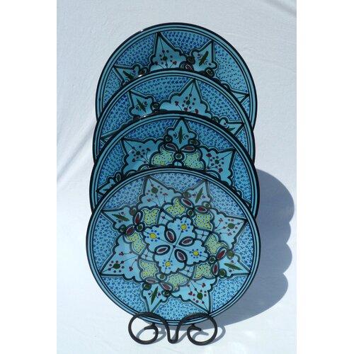 "Le Souk Ceramique Sabrine Design 11"" Dinner Plates"