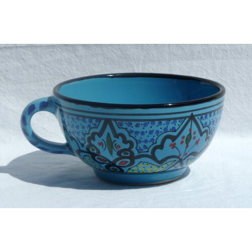Le Souk Ceramique Sabrine Design 14 oz. Latte and Soup Mug
