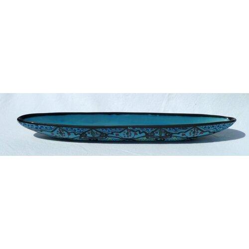 """Le Souk Ceramique Sabrine Design 16"""" Oval Platter"""