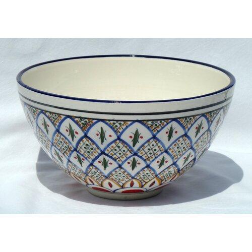 "Le Souk Ceramique Tabarka Design 12"" Bowl"