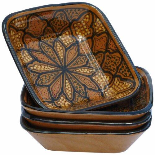 """Le Souk Ceramique Honey Design 8"""" Pasta / Salad Bowl (Set of 4)"""