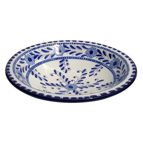 "Le Souk Ceramique Azoura Design 12"" Serving Bowl"