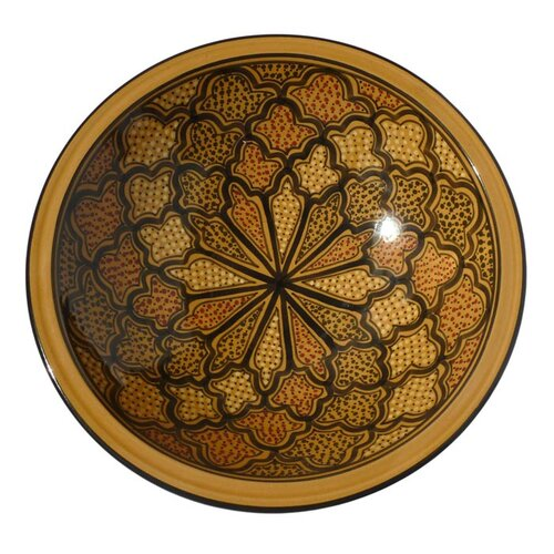 "Le Souk Ceramique Honey Design 14"" Serving Bowl"