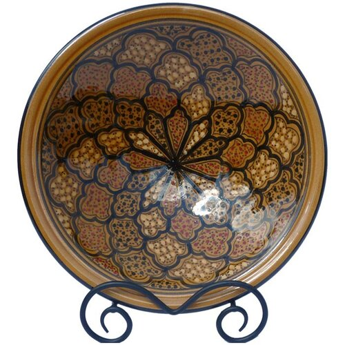 "Le Souk Ceramique Honey Design 12"" Small Serving Bowl"