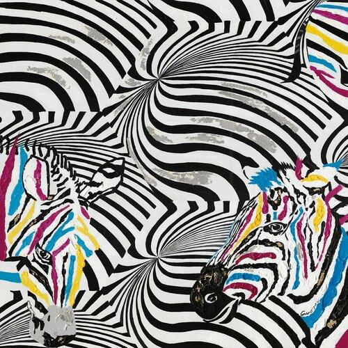 Zebra Painting Print on Canvas