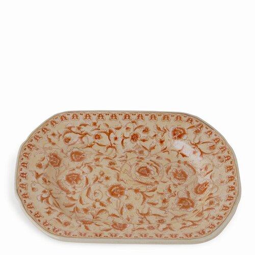 Caroline Porcelain Charger in Terracotta Glaze