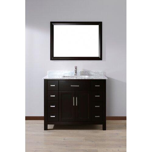 Bauhaus Bath Celize 42quot; Single Bathroom Vanity Set with Mirror