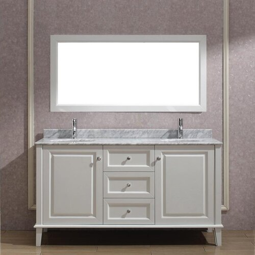 Beautiful DOUBLE MIRROR DOOR WOODEN INDOOR WALL MOUNTABLE BATHROOM CABINET SHELF