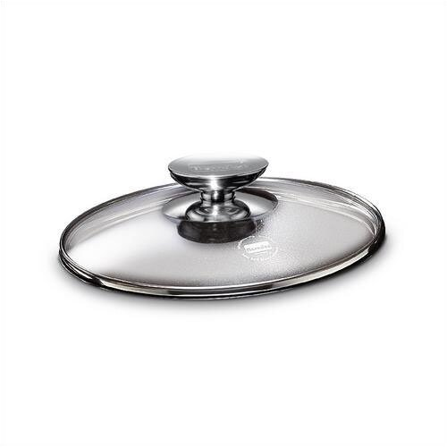 "Berndes Tricion 6"" Glass Lid with Stainless Lid Knob"