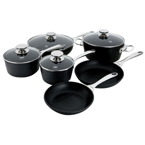 Coquere Aluminum 10-Piece Cookware Set