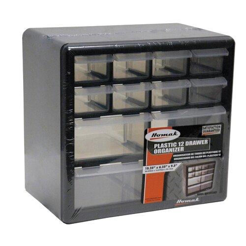 Homak 12 Drawer Middle Cabinet