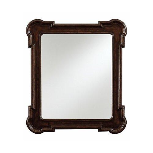 Stanley Furniture European Farmhouse  Rounded Captains Fluted Edge Mirror