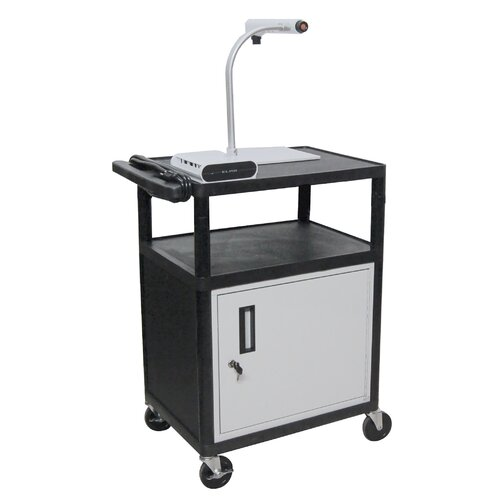 Luxor LP Series AV Cart with Locking Cabinet