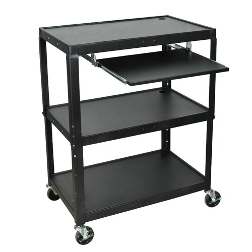 Luxor Extra Wide AV Cart with Keyboard Tray