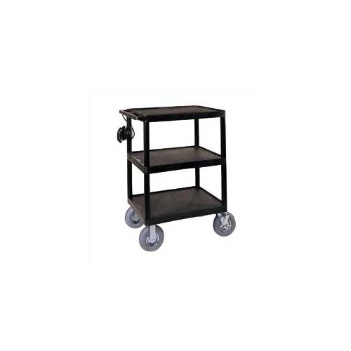 Luxor Open Shelf Endura Video Cart with Pneumatic Tires