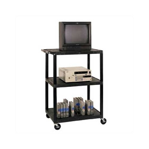 Luxor LP Series High Open Shelf TV Cart
