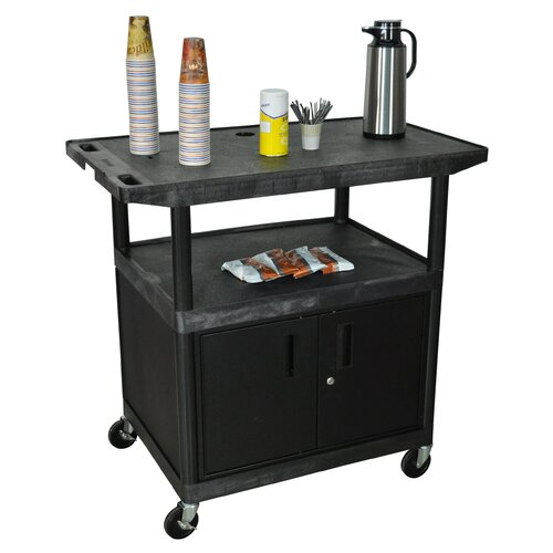 Luxor Wide Top Coffee Cart with Cabinet