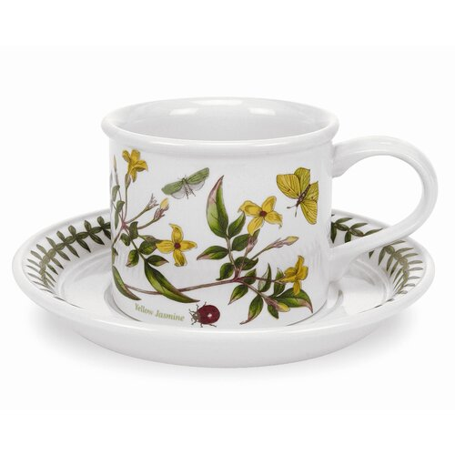 Portmeirion Botanic Garden 9 oz. Breakfast Cup and Saucer