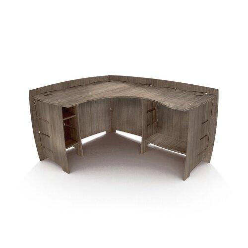 Driftwood 60 quot corner executive desk wayfair